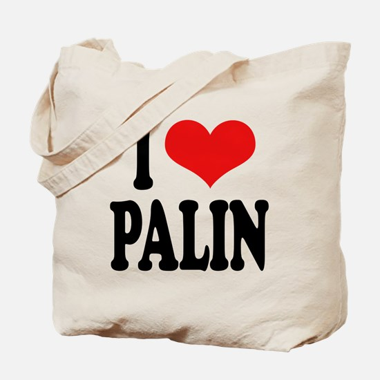 I Love Palin Tote Bag