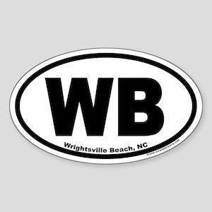 Wrightsville Beach WB Euro Oval Sticker
