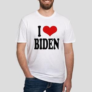 I Love Biden Fitted T-Shirt