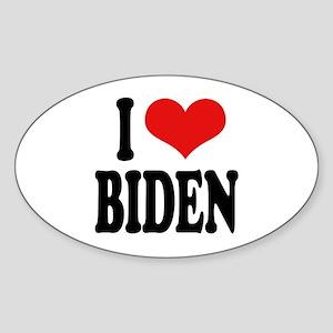 I Love Biden Oval Sticker