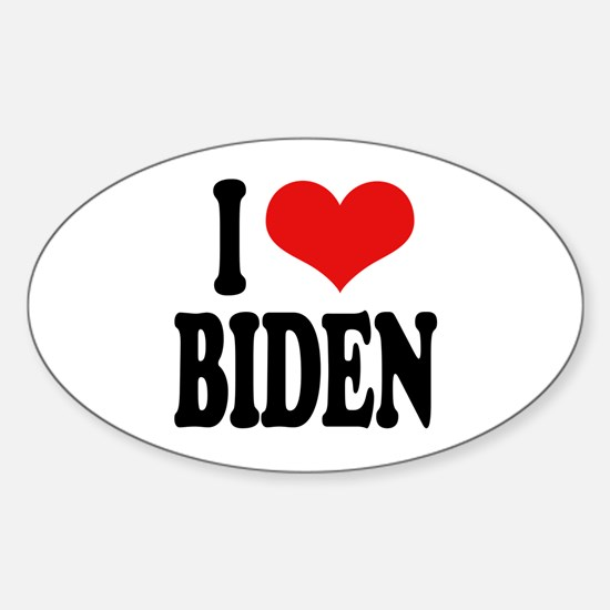 I Love Biden Oval Decal
