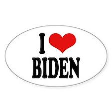 I Love Biden Sticker (Oval)