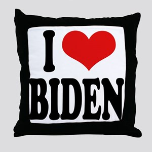 I Love Biden Throw Pillow