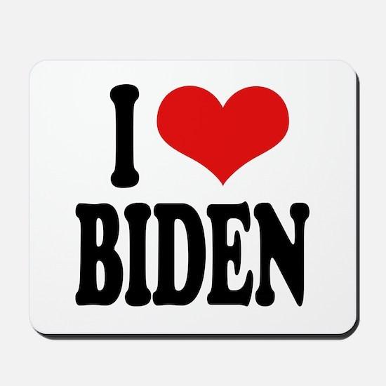 I Love Biden Mousepad