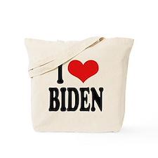 I Love Biden Tote Bag