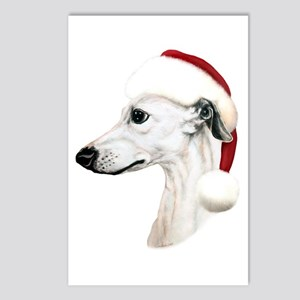 White Whippet Santa Postcards (Package of 8)