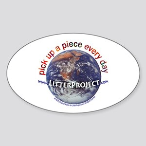 Litter Project Oval Sticker