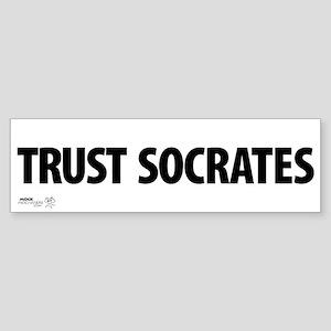 """Trust Socrates"" Bumper Sticker"