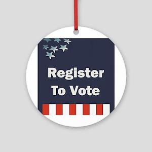 Register to Vote Round Ornament