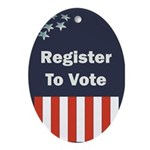 Register to Vote Oval Ornament