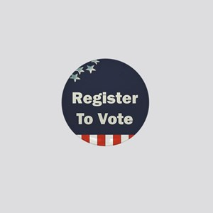 Register to Vote Mini Button