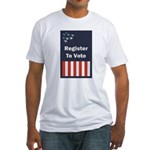 Register to Vote Fitted T-Shirt