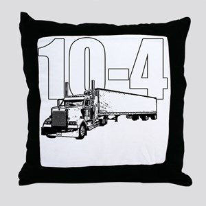 10-4 Trucker Throw Pillow