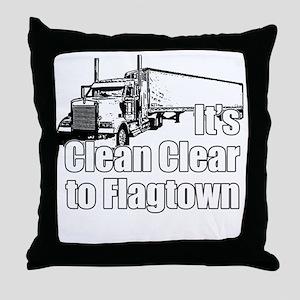 Clean Clear to Flagtown Throw Pillow