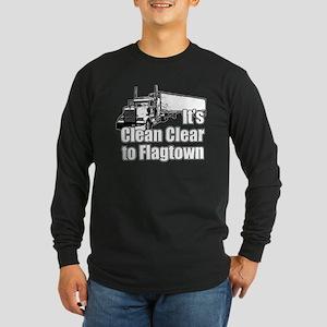 Clean Clear to Flagtown Long Sleeve Dark T-Shirt