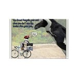 The Great Penguin Gets Mad... Rectangle Magnet (10