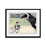 The Great Penguin Gets Mad... Framed Panel Print