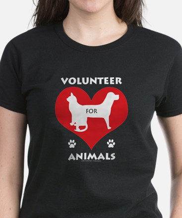 Volunteer for Animals Women's Dark T-Shirt