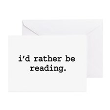 i'd rather be reading. Greeting Cards (Pk of 20)
