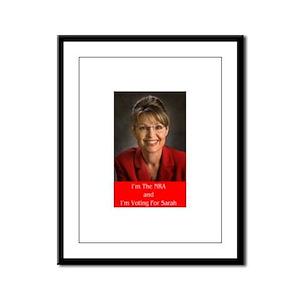 Sarah Palin NRA Framed Panel Print