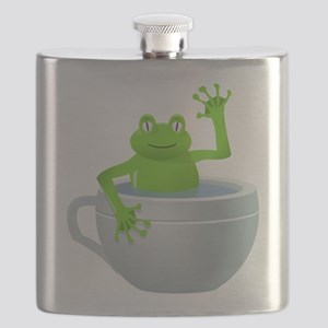Funny Unexpected Frog in My Tea Cup Flask