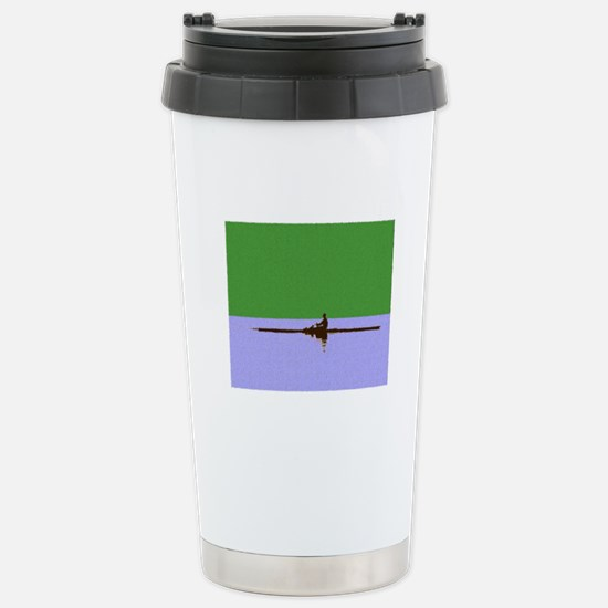 ROWER GREEN BLUE PAINTED Stainless Steel Travel Mu