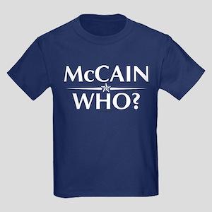 McCain - Who? Kids Dark T-Shirt