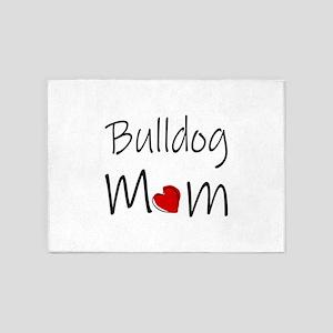 Bulldog Mom 5'x7'Area Rug