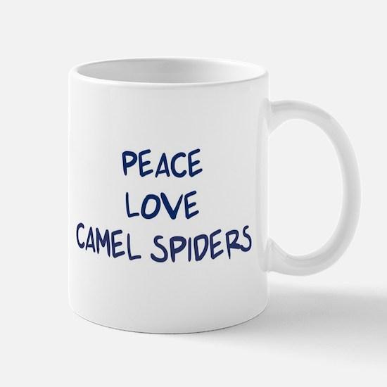Peace, Love, Camel Spiders Mug