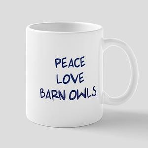 Peace, Love, Barn Owls Mug