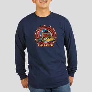 Cement Truck Driver Long Sleeve Dark T-Shirt