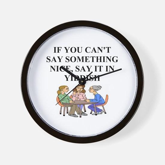jewish yidish wisdom gifts an Wall Clock