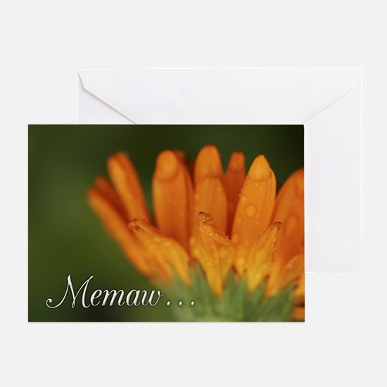 Memaw Orange Daisy Greeting Card