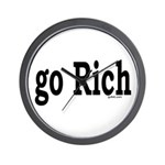 go Rich Wall Clock