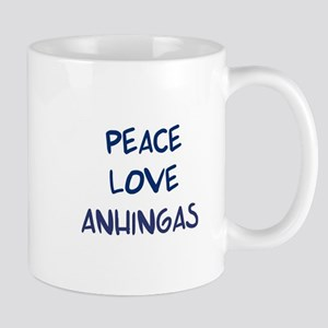 Peace, Love, Anhingas Mug