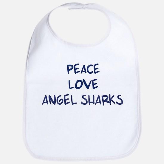 Peace, Love, Angel Sharks Bib