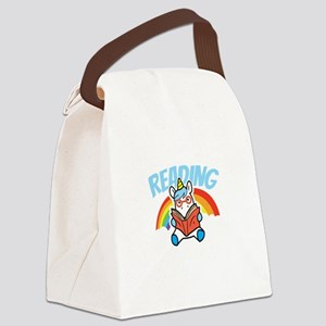Reading Book Lover Reading Unicor Canvas Lunch Bag