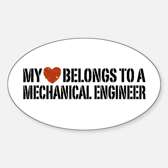 My Heart Belongs to a Mechanical Engineer Decal