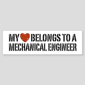 My Heart Belongs to a Mechanical Engineer Sticker