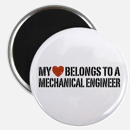 My Heart Belongs to a Mechanical Engineer Magnet