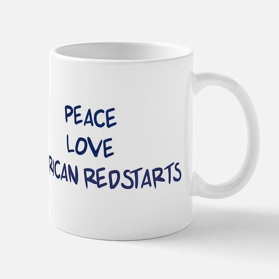 Peace, Love, American Redstar Mug