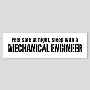 Feel Safe with a Mechanical Engineer Sticker (Bump