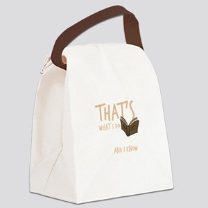 Reading Book Lover That's Wha Canvas Lunch Bag