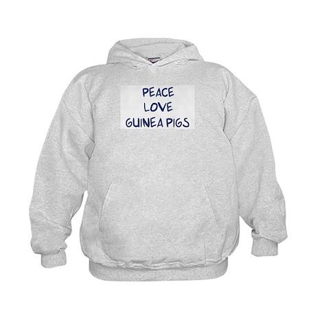Peace, Love, Guinea Pigs Kids Hoodie