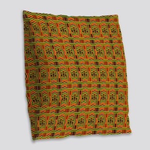 Colorful Kente Burlap Throw Pillow