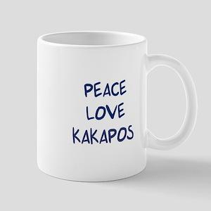 Peace, Love, Kakapos Mug