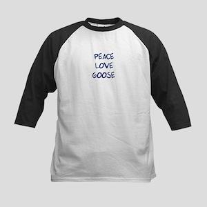 Peace, Love, Goose Kids Baseball Jersey