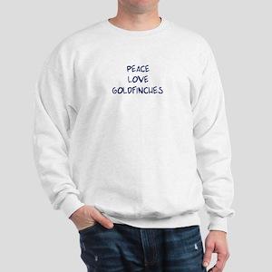 Peace, Love, Goldfinches Sweatshirt