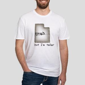 Utah, but I'm taller tan Fitted T-Shirt