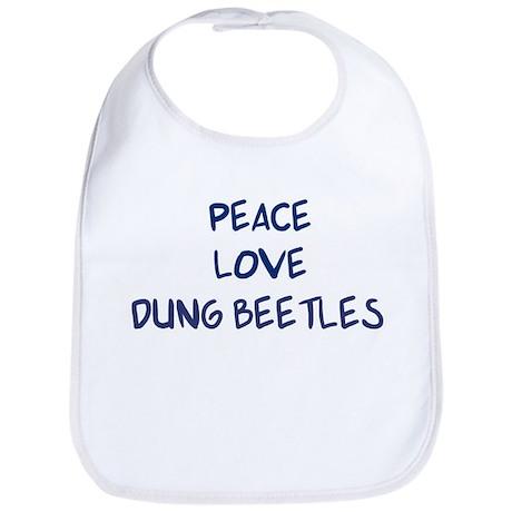 Peace, Love, Dung Beetles Bib